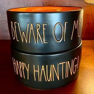 NEW - Rae Dunn - SET of 2 - Halloween Pet Bowls